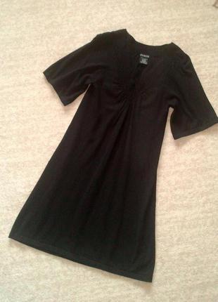 34р. трикотажное чёрное платье, вискоза