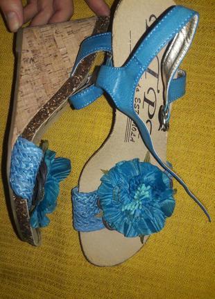 Босоножки moda бирюза размер 40