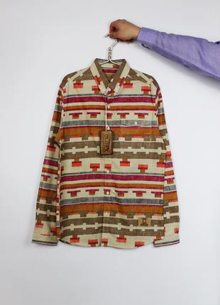 Оксфорд oxford классическая мужская рубашка в орнамент cloak.
