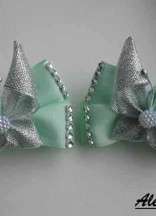 Резинки бантики для волос с бабочками