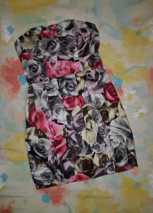 Платье h&m divided exclusive принт розы
