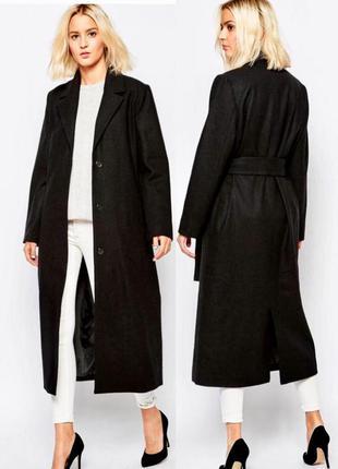 Шерстяное длинное пальто/ бойфренд/халат/ куртка/ косуха