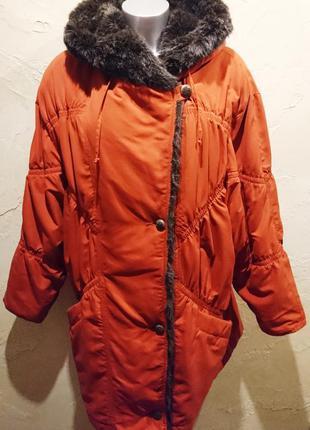 Оригинальная кирпичная куртка на синдопоне пальто coats 3xl 18