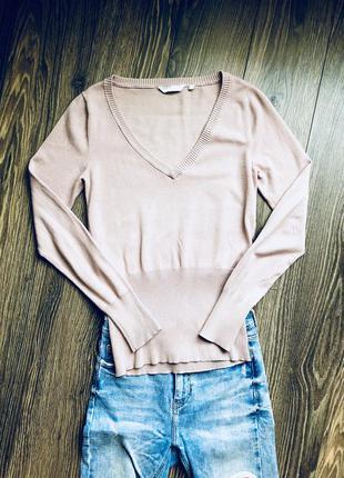 Пыльно розовая кофта (36-38)
