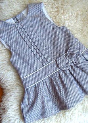 Платье сарафан в клетку mamas&papas 9-12 мес. 80-86 рост