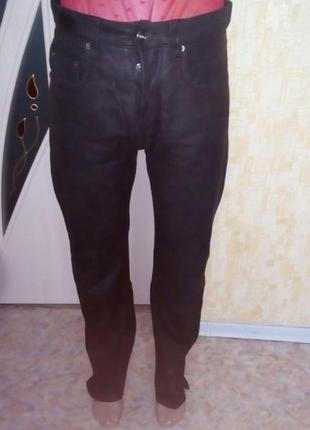 Отличные брюки из 100 % кожи буйвола /кожаные брюки /брюки/штаны