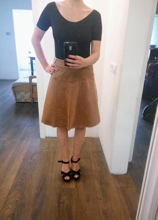 Модная вельветовая юбка