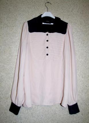 Стильная пудровая блуза рубашка от asos
