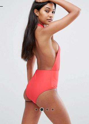 Коралловый сексуальный купальник asos