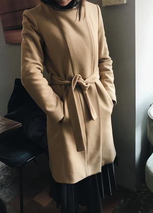 Пальто mango женское шерсть