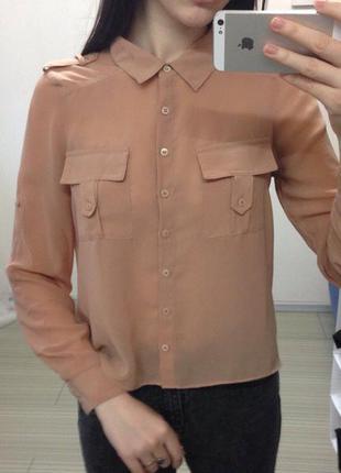Персиковая блуза new look