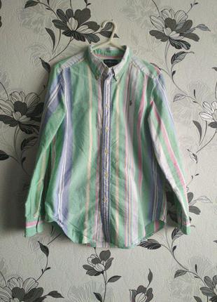 Цветная плотная рубашка ralph lauren🐴