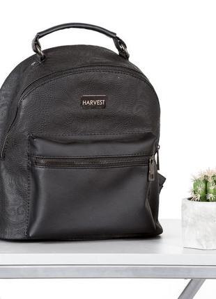 Женский мини рюкзак, маленький  рюкзак черного цвета