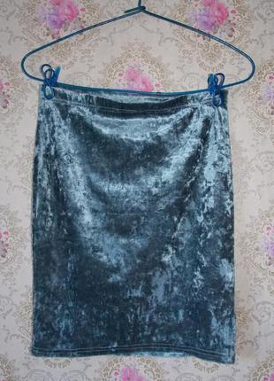 Бархатная юбка monki
