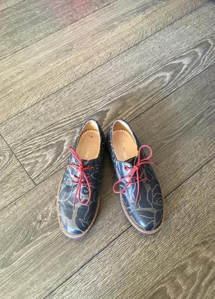 Детские ботиночки кожаные 34 размер, 22 см