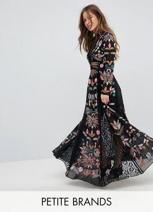 Frock and frill petite повністю вишита сукня ажур ексклюзив ASOS ... e1bc02a6fde88