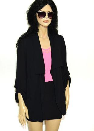 Базовый черный кардиган жакет пиджак