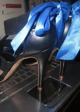 Новые босоножки (туфли)  cosmoparis  кожаные  черные 37р (по стельке 24см)