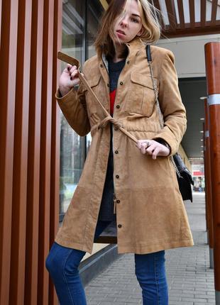 Пальто натуральный замш rene lezard