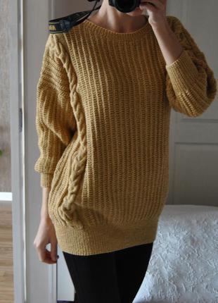 "Вязаный свитер оверсайз / светр в""язаний"