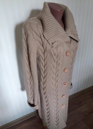 Длинный, вязаный кардиган /пальто