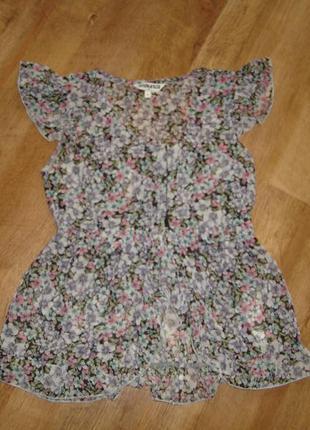 Шифоновая блузка с цветочным рисунком на 12 лет от new look