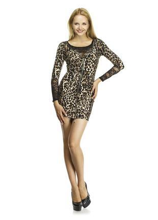 Estrellа сексуальное платье анималистической расцветки леопард