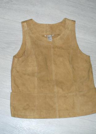 Кожаная блузка h&m. новая. размер s