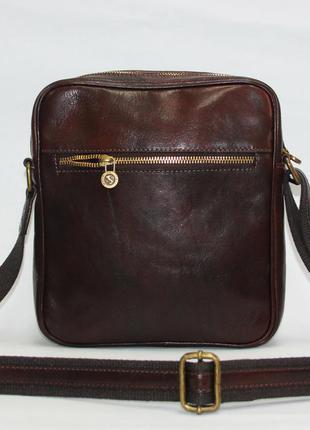 Мужская сумка мессенджер натуральная кожа италия