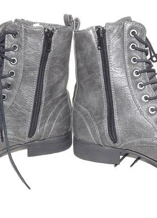 Ботинки 39 размер, эко кожа шнуровка cube