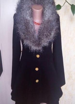 Турция!шикарное пальто с мехом/пальто/тренч/куртка/пуховик