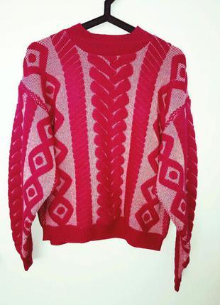 Яркий свитер джемпер morgan