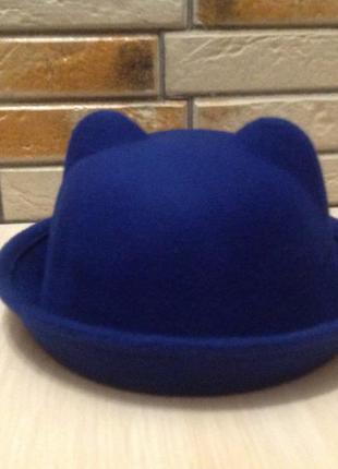 Шляпы фетровые с ушками 52-54, разные цвета и модели