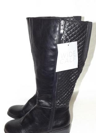Сапоги 37-38 размер, чёрные низкий ход wide calf
