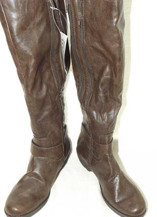 Сапоги высокие aerosoles коричневые 24 см стелька