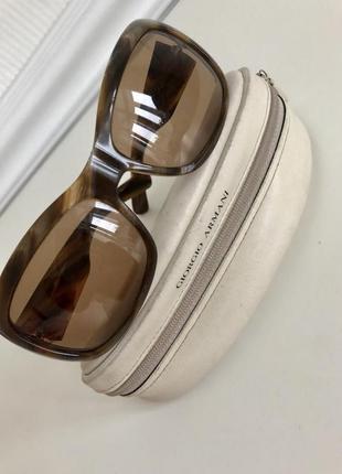 Стильные/солнцезащитные очки/giorgio armani/ оригинал/женские/коричневые/