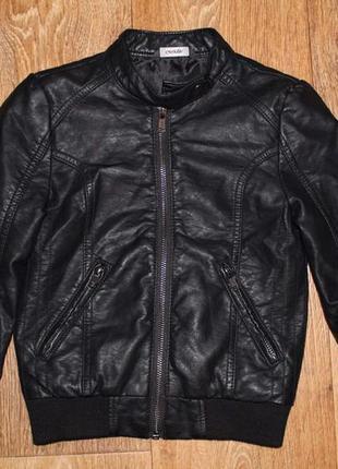 Модная демисезонная куртка george под кожу на 4-5лет.104-110см.