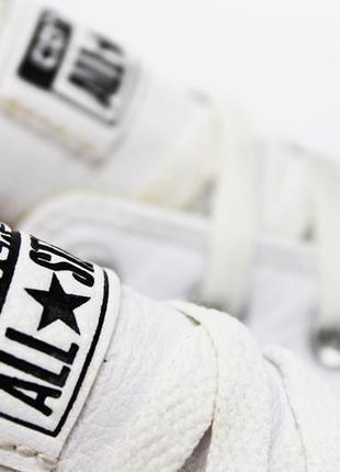 Белые кожаные кеды converse all star оригинал 35.5 (22.5 см) конверс