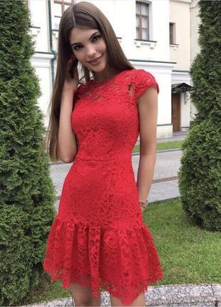 Дорогое платье из турецкого набивного кружева на подкладке от sati fashion