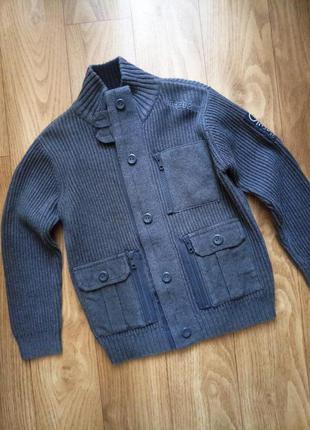 Вязаный кардиган, куртка,  ветровка, свитер,  кофта  next на 5 лет