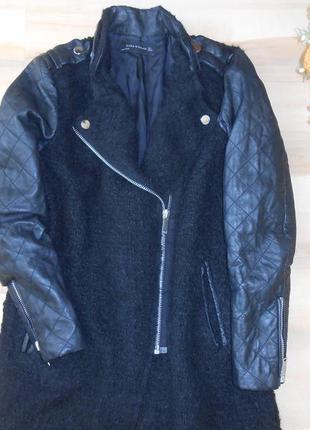 14-16  буклированный кардиган-пальто