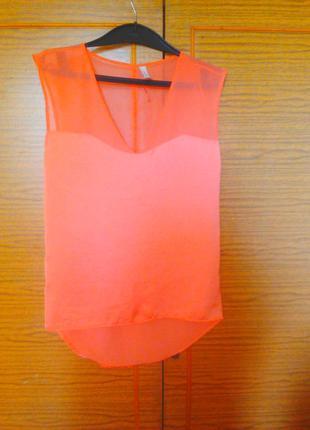 Блуза /легкая блузка с удлиненной спинкой