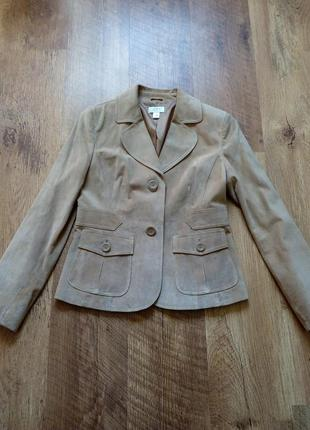 Замшевый пиджак жакет