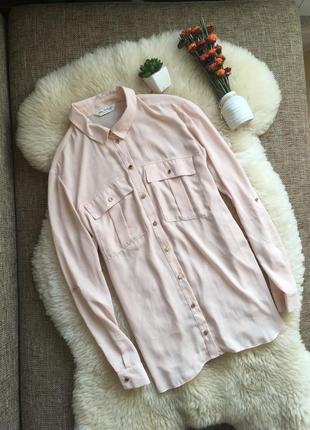 Нежно розовая блуза miss selfigie р-р м