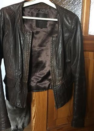 Кожаная куртка бомбер zara