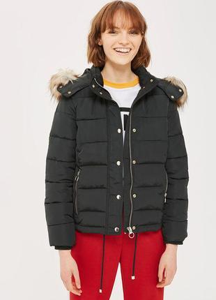 Новая куртка topshop женская курточка оверсай бомбер демисезонная с капюшоном