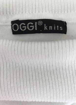 Кофта/ гольф/ oggi/ белая с длинным рукавом /размер m/4