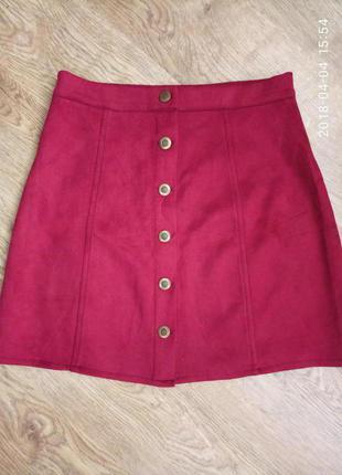 Шикарная вишневая юбка р.s