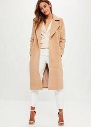 Пальто missguided ,р-р 14. цвет camel