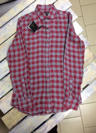 Рубашка мужская лен massimo dutti